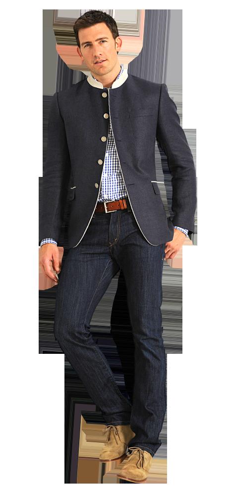 Dolzer Outfit Herren Tracht Blau groß