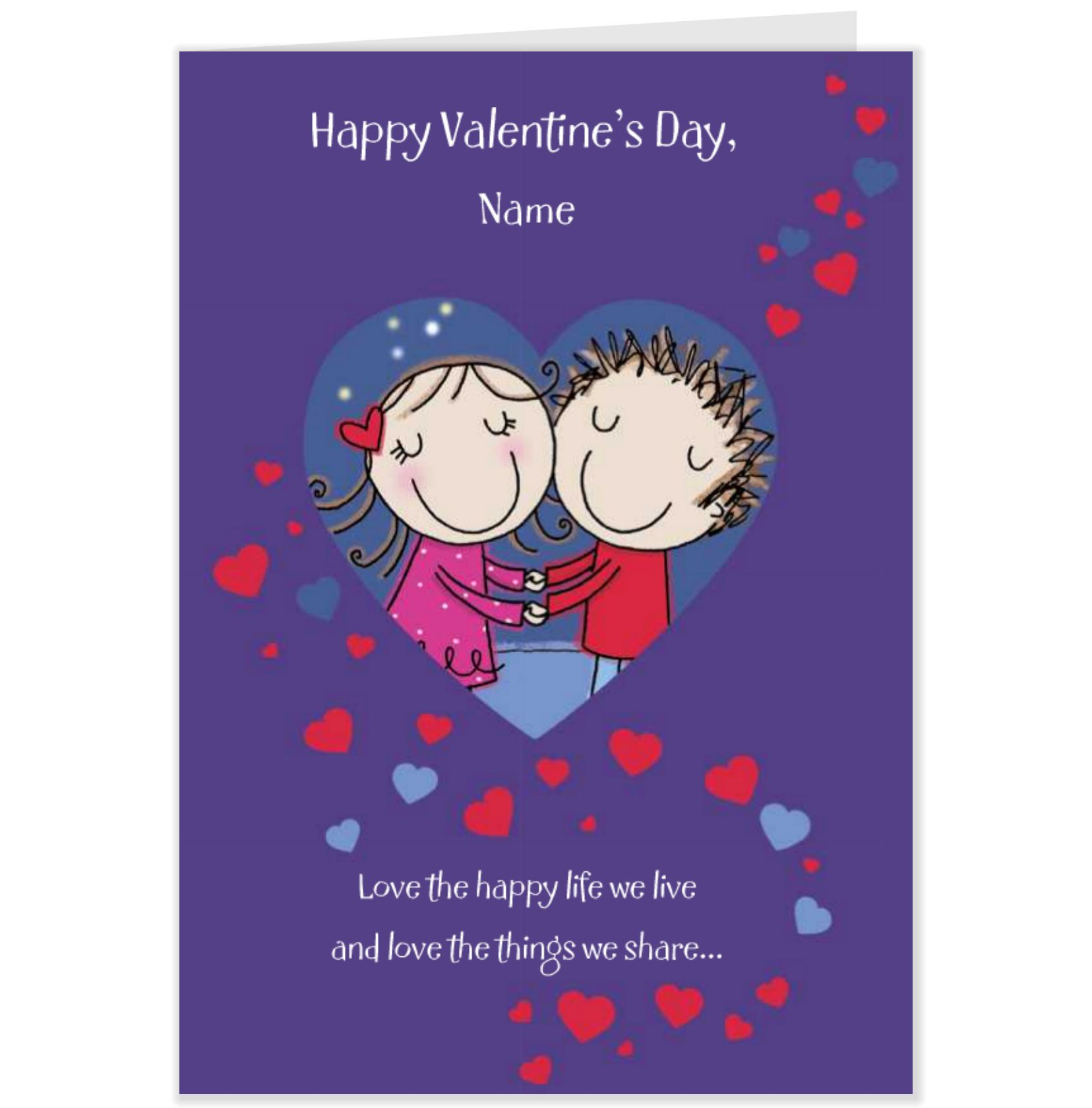 Happy Valentines Day Love Message Across The Miles Valentines Card