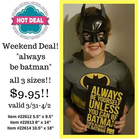 #weekenddeal #batman #livealifeinspired #uppercaselivingvinyl #ulaaa