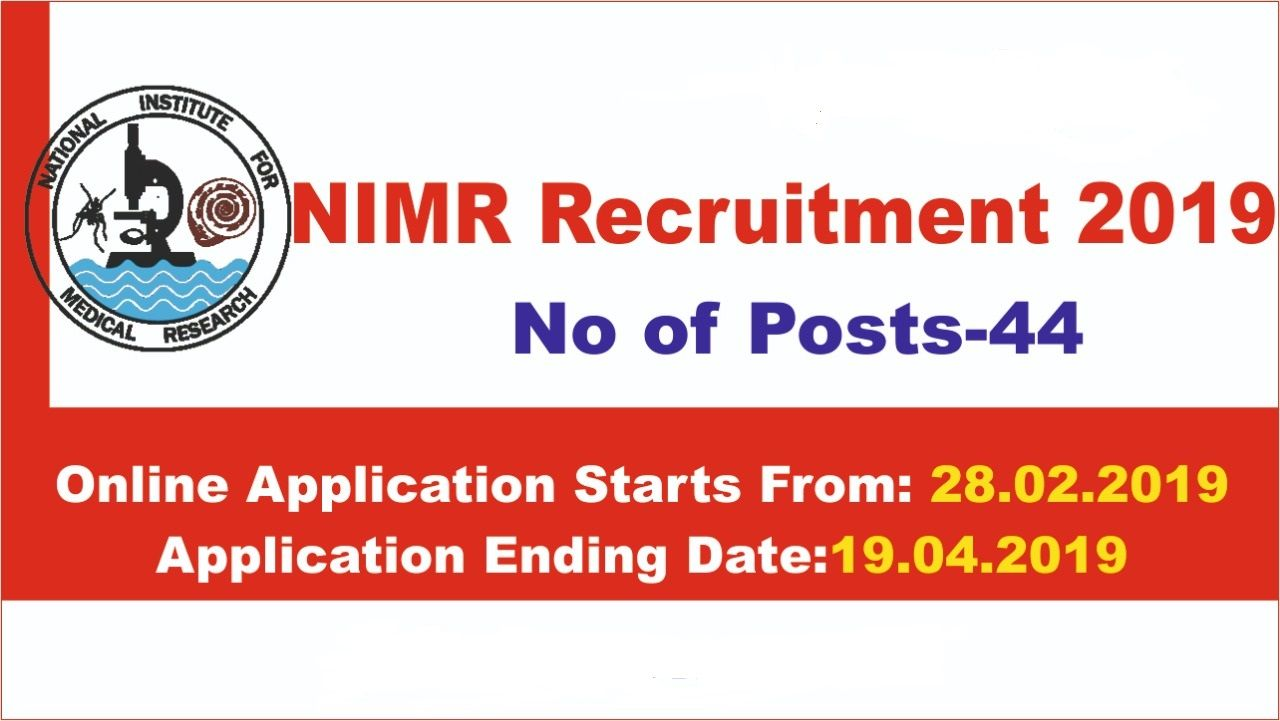 Nimr Recruitment 2019 Has Released 44 Post Technical Assistant