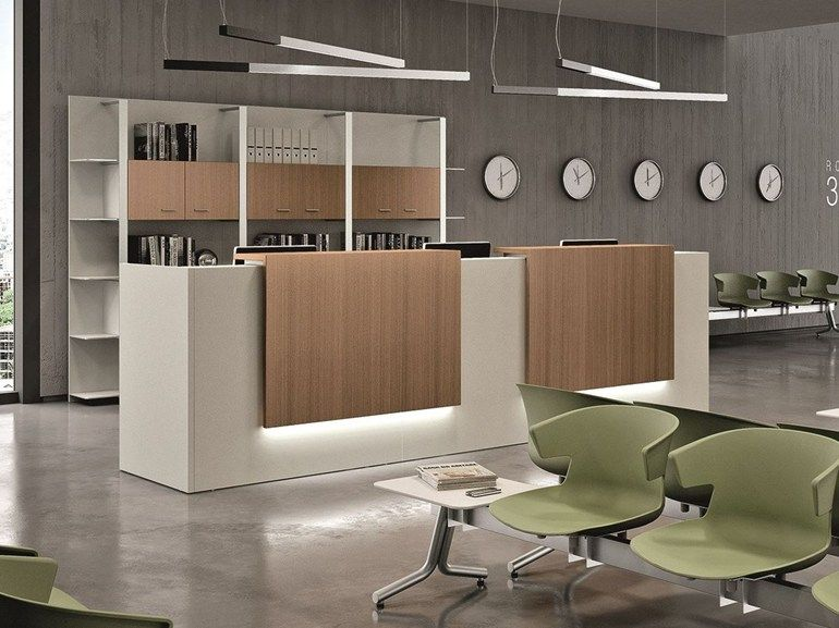 Arredi Per Ufficio Quadrifoglio : Mostrador para recepciÓn modular z quadrifoglio sistemi d