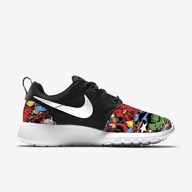 e5ebb700780b Marvel Avengers Nike Roshe Run Custom Sneakers   shoes I want   Nike ...