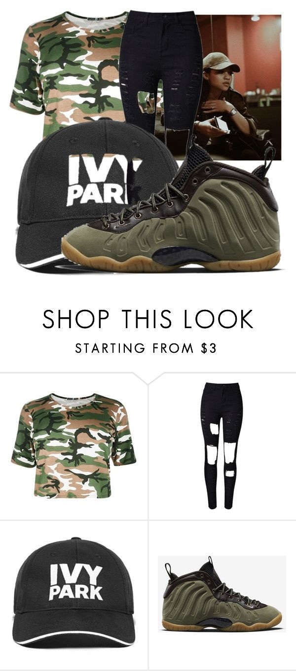 """""""Untitled #164"""" by theyenvy-jorii ❤ liked on Polyvore featuring WithChic, Ivy Park and NIKE"""
