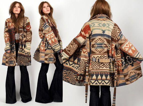 vintage RALPH LAUREN southwestern Wool Cardigan sweater southwest ...