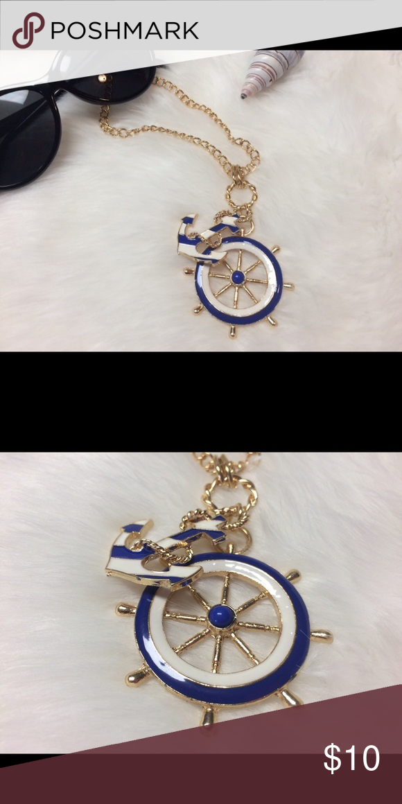 """☀️Posh Nautical Necklace☀️ New Gorgeous Nautical Necklace 24"""" Chain 12"""" Drop ☀️Price is Firm Unless Bundled☀️ Jewelry Necklaces"""