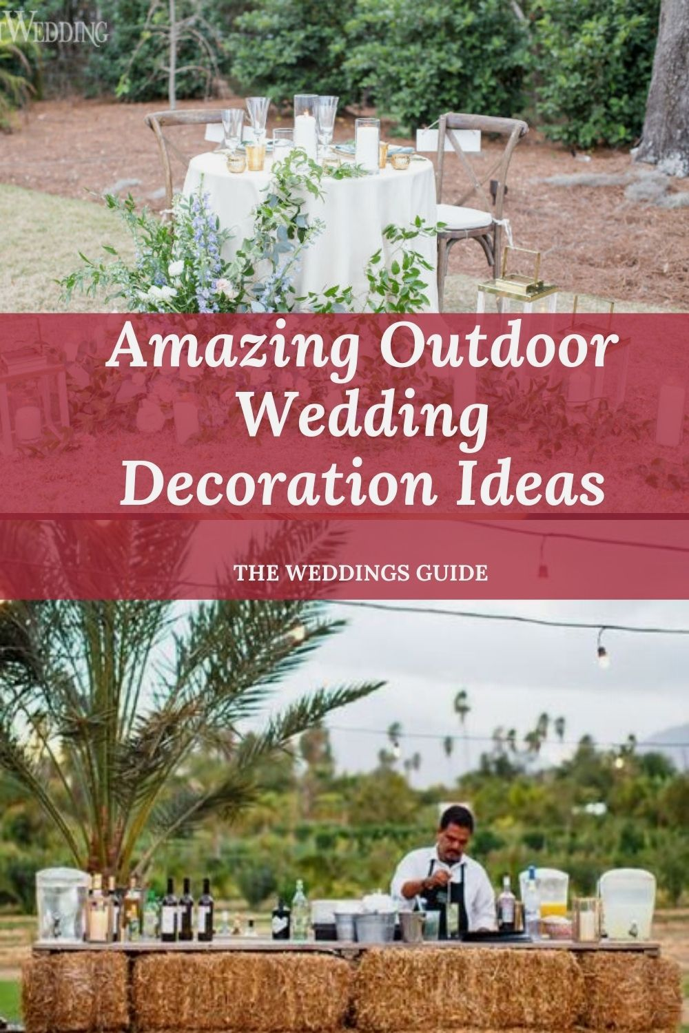 Amazing Outdoor Wedding Decoration