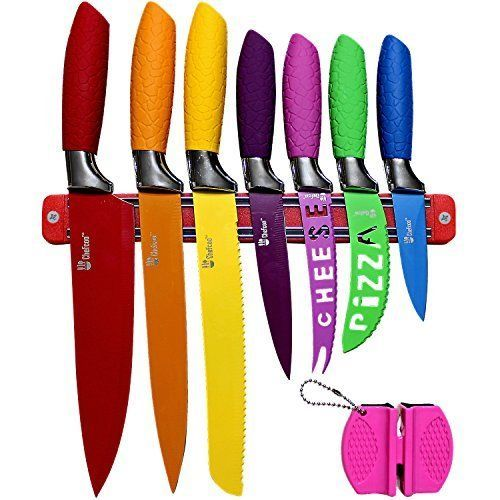 Kitchen Knife Set Colors Kitchen Cheese Pizza Paring Utility ...