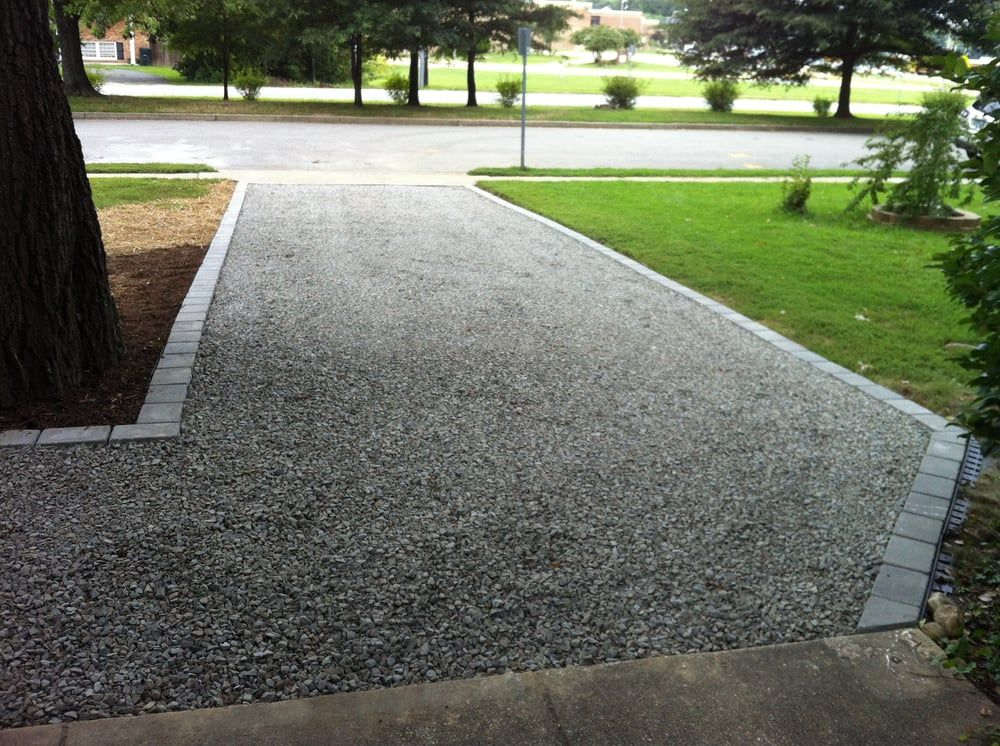 Gravel Driveway With Paver Border Driveway Edging Stone
