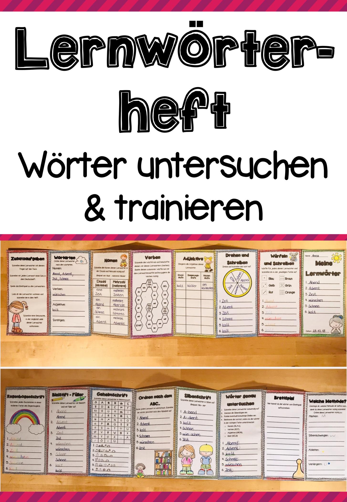 Mein Lernwörterheft - Wörter untersuchen und trainieren