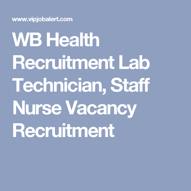 wb health recruitment board