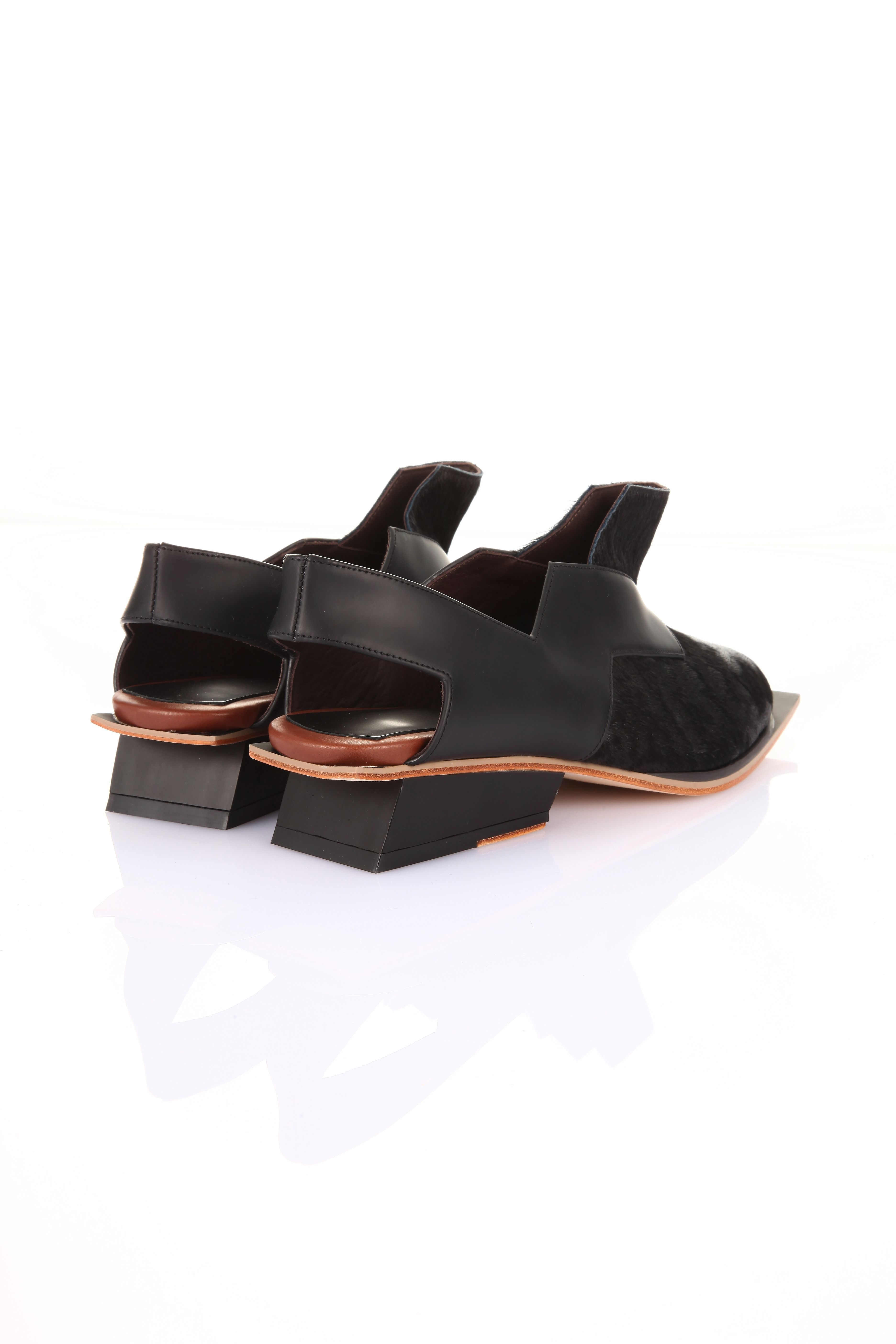 Square Root Oxford Shoe - Black | Abcense | Shop | NOT JUST A LABEL