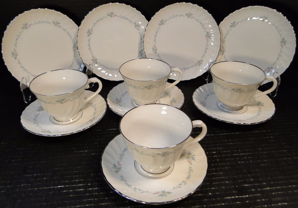 Syracuse China Sweetheart 4 Person Tea Set with Cups \u0026 Dessert Plates EXCELLENT & Syracuse China Sweetheart 4 Person Tea Set with Cups \u0026 Dessert ...