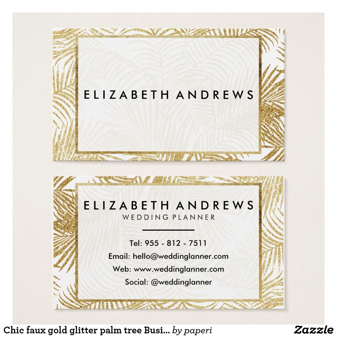 Chic faux gold glitter palm tree business cards gold glitter chic faux gold glitter palm tree business cards colourmoves