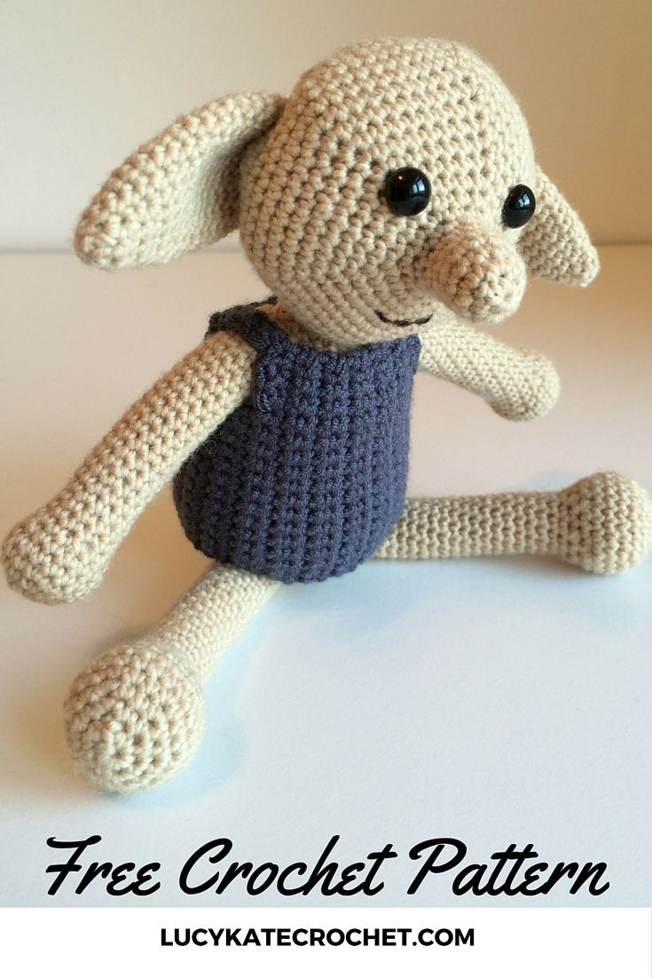 Crochet Dobby: Make Your Own Dobby The House Elf Toy | Free crochet ...