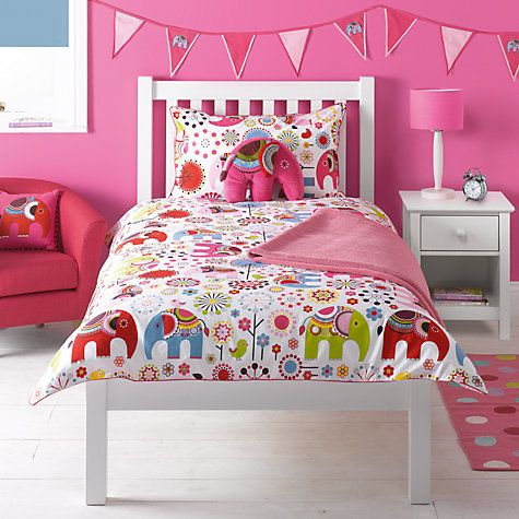 Little Home At John Lewis Abbey Elephant Duvet Cover And Pillowcase Set Single From Our Children S Bedding Sets Range