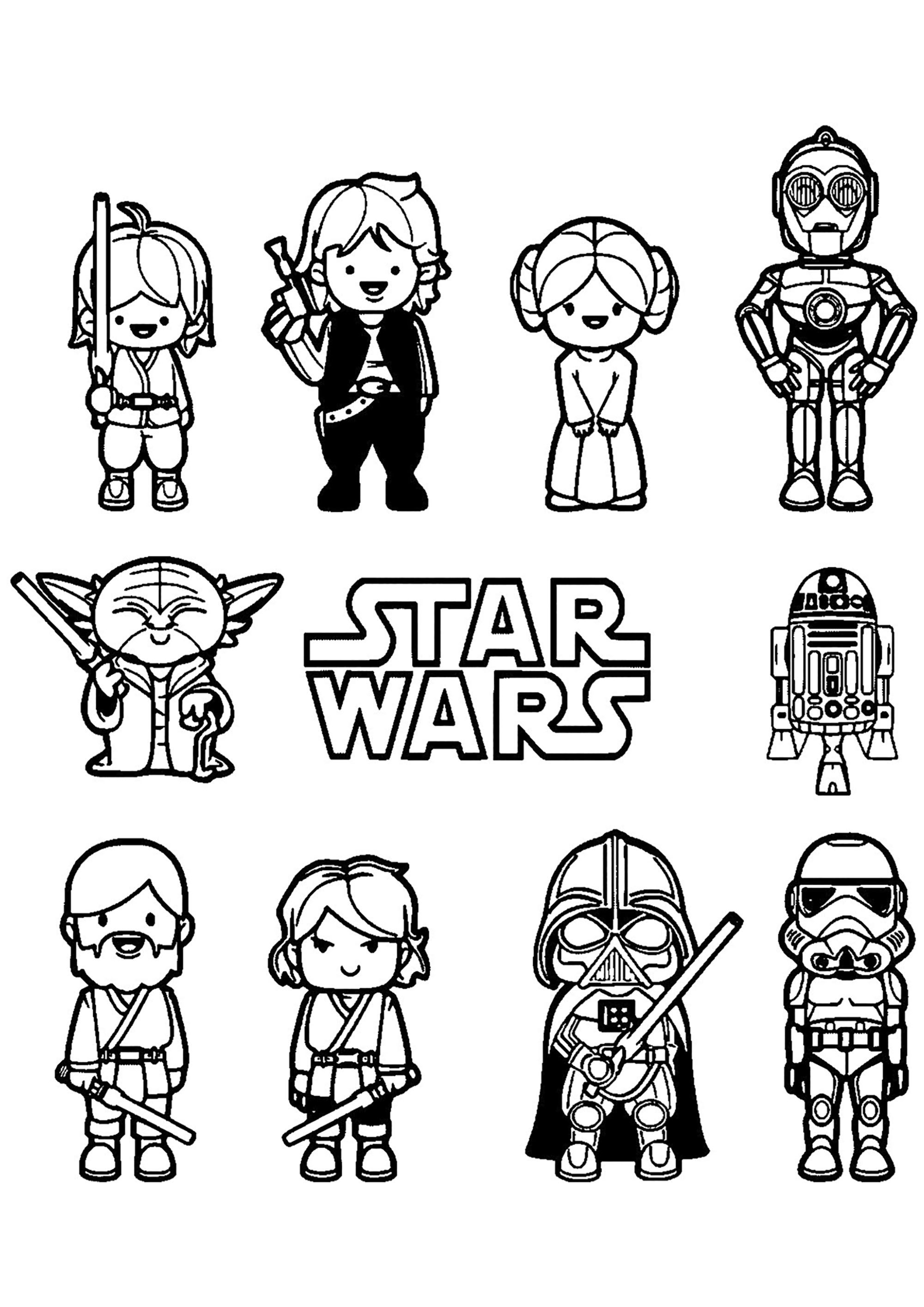 Funny Star Wars Coloring Page For Kids From The Gallery Star Wars In 2020 Star Wars Coloring Sheet Star Wars Cartoon Star Wars Colors