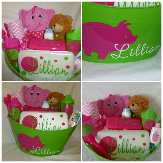 Personalized baby girl piggy gift basket for baby by sewlilysoyou personalized baby girl piggy gift basket for baby by sewlilysoyou 4500 negle Choice Image