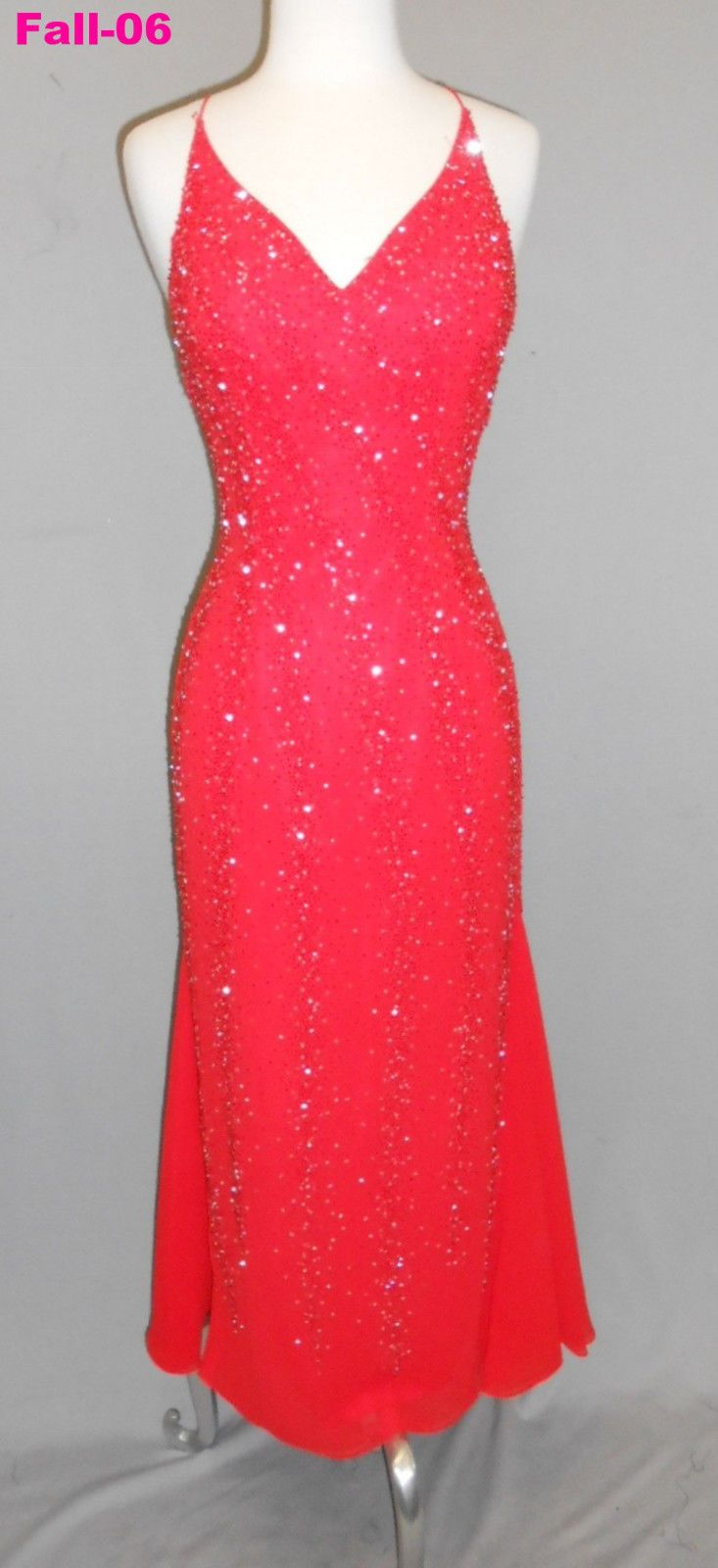 Nice awesome bdazzle red size beadedl bridesmaids pageant prom