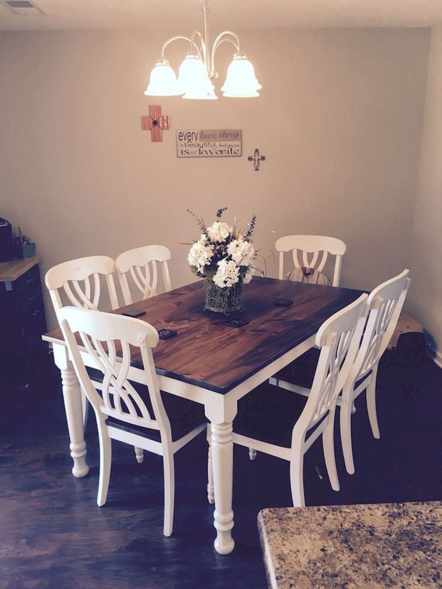 58 Lasting Farmhouse Dining Room Makeover Decor Ideas