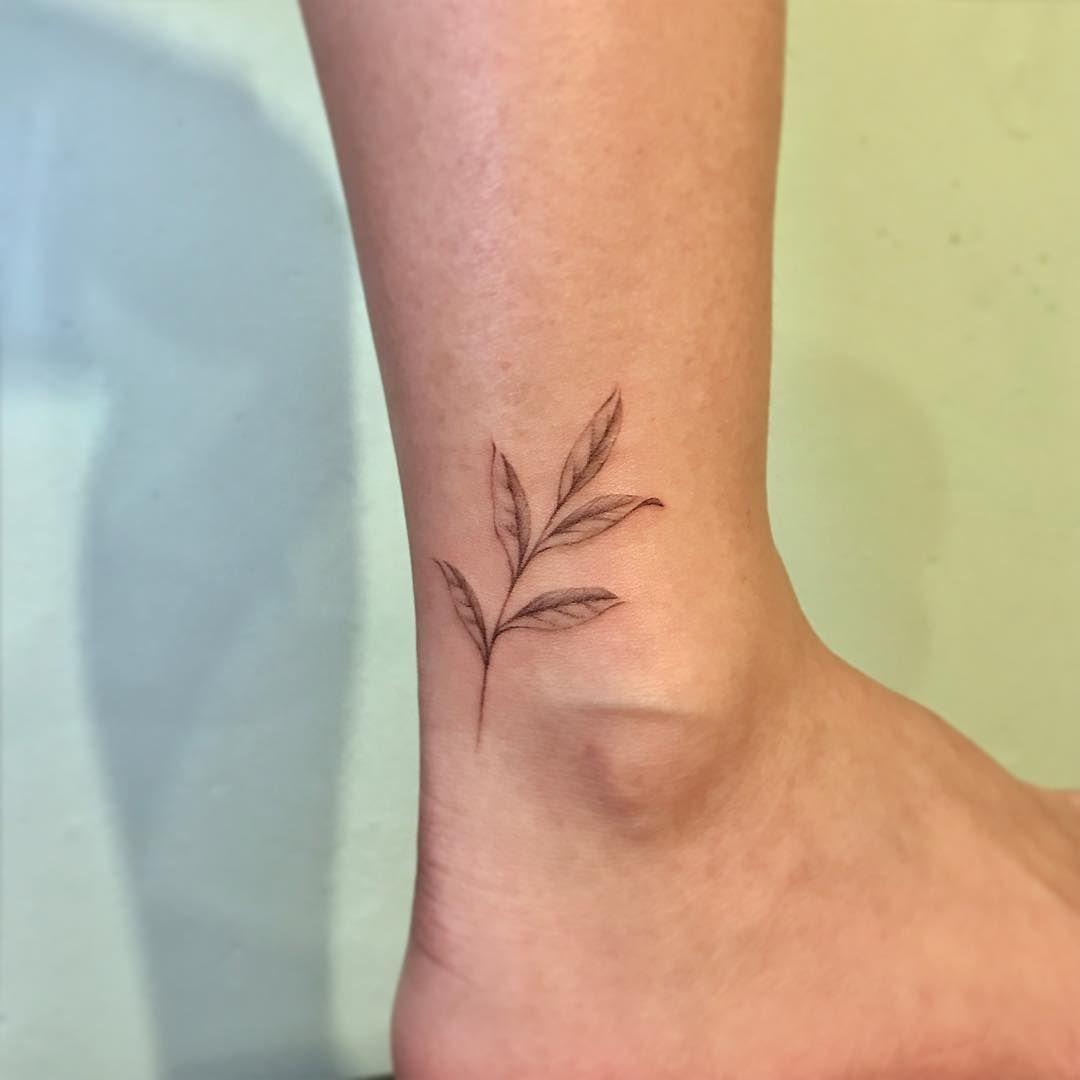 Small christian tattoo ideas for men delicate leaf tattoo comotattoo  tattoosartquotes  pinterest