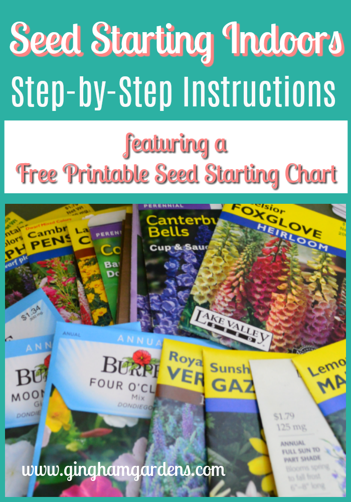 image regarding Printable Seed Starting Chart identify Seed Starting up Indoors Vegetable Gardens Starting off seeds