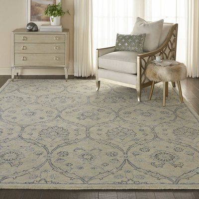 Waverly Baby Bade Hand Tufted Wool Light Blue Ivory Area Rug Rug Size Rectangle 7 9 X 9 9 With Images Area Rugs Light Blue Area Rug Beige Area Rugs