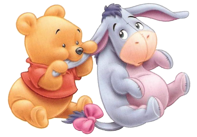 Baby winnie the pooh and friends drawings