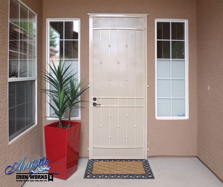 Elegant Entry Wrought Iron Security Screen Door With Images