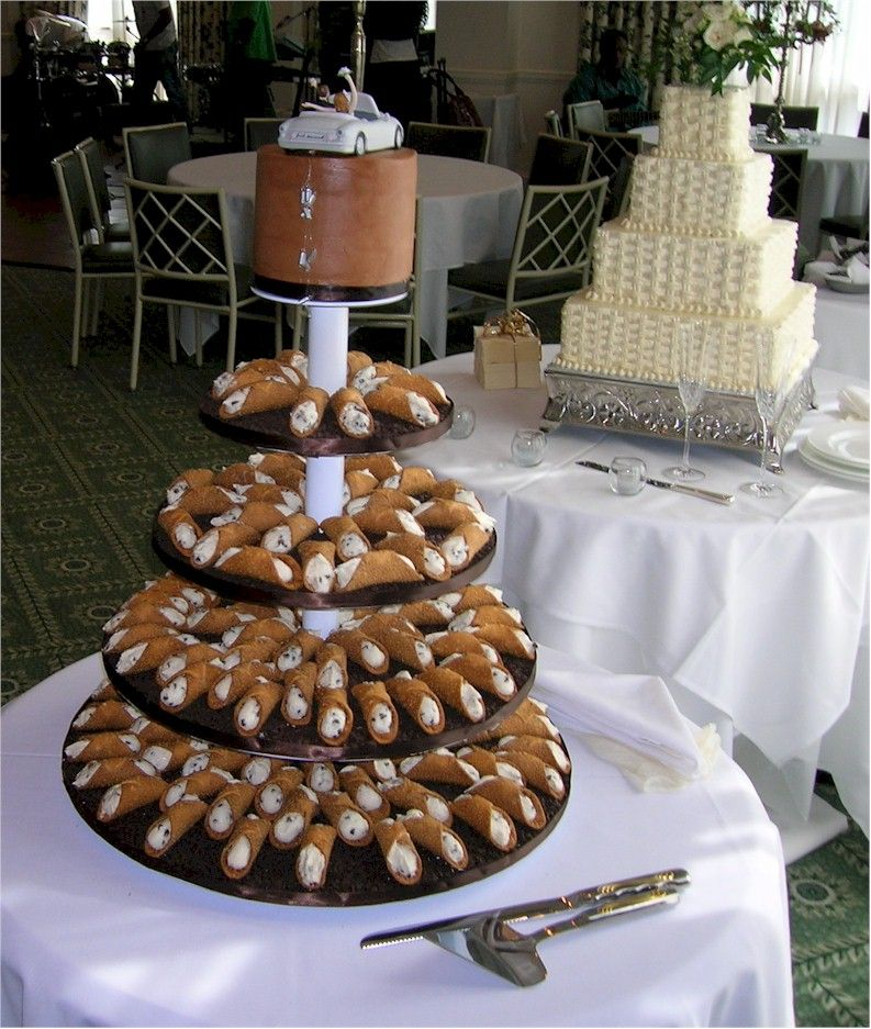 Cannoli Tower Instead Of A Cake