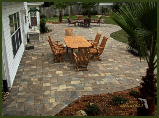 patio paver ideas for your garden or backyard stone brick and block paver design ideas - Paver Patio Design Ideas