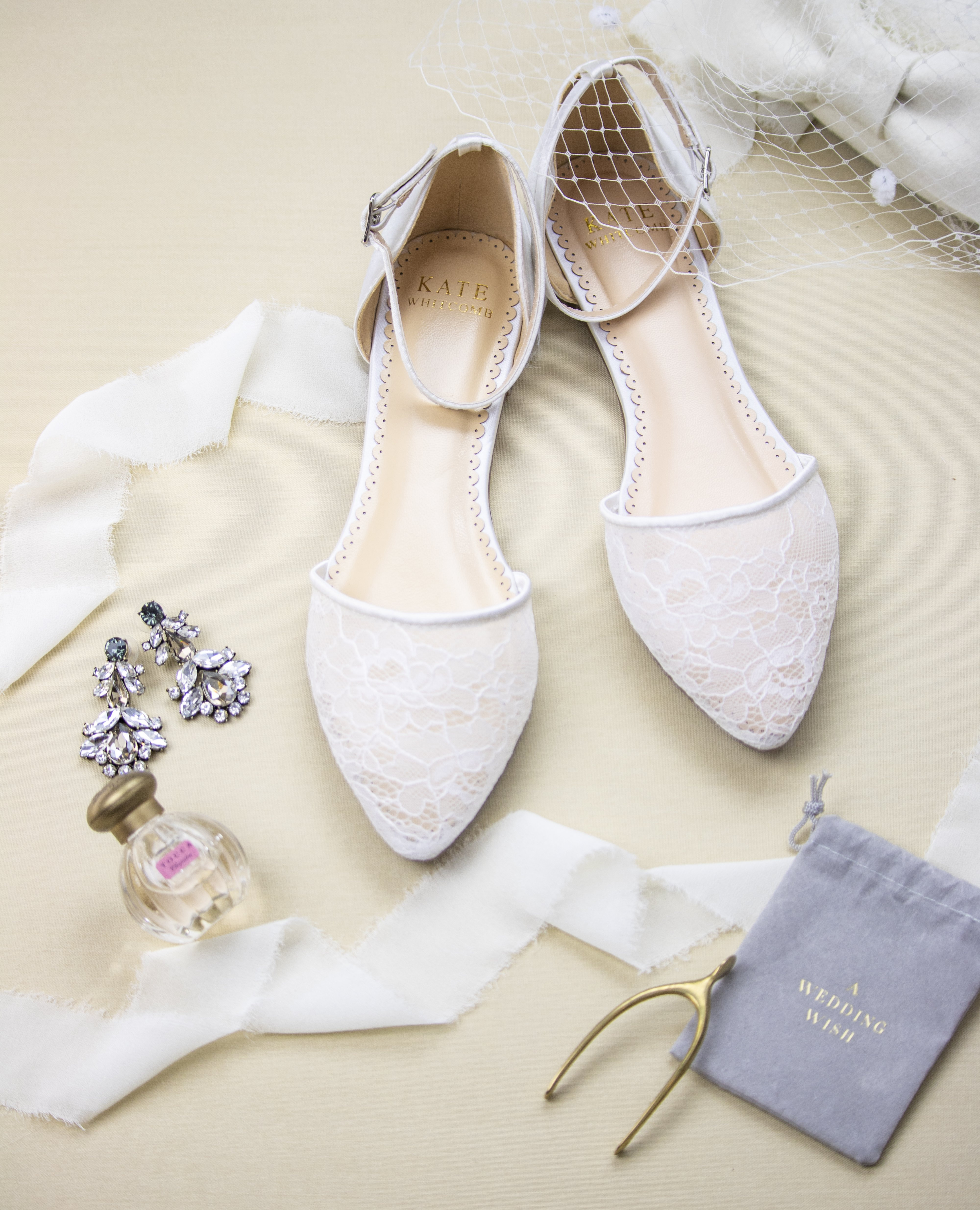 White Wedding Shoes Lace Ballet Flat Emma Ivory Wedding Shoes Lace Bridal Shoes Flats Ivory Bridal Shoes