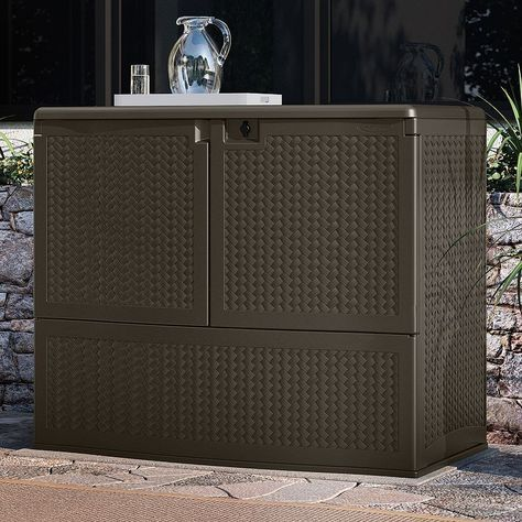 Suncast Backyard Oasis Storage & Entertaining Station ...