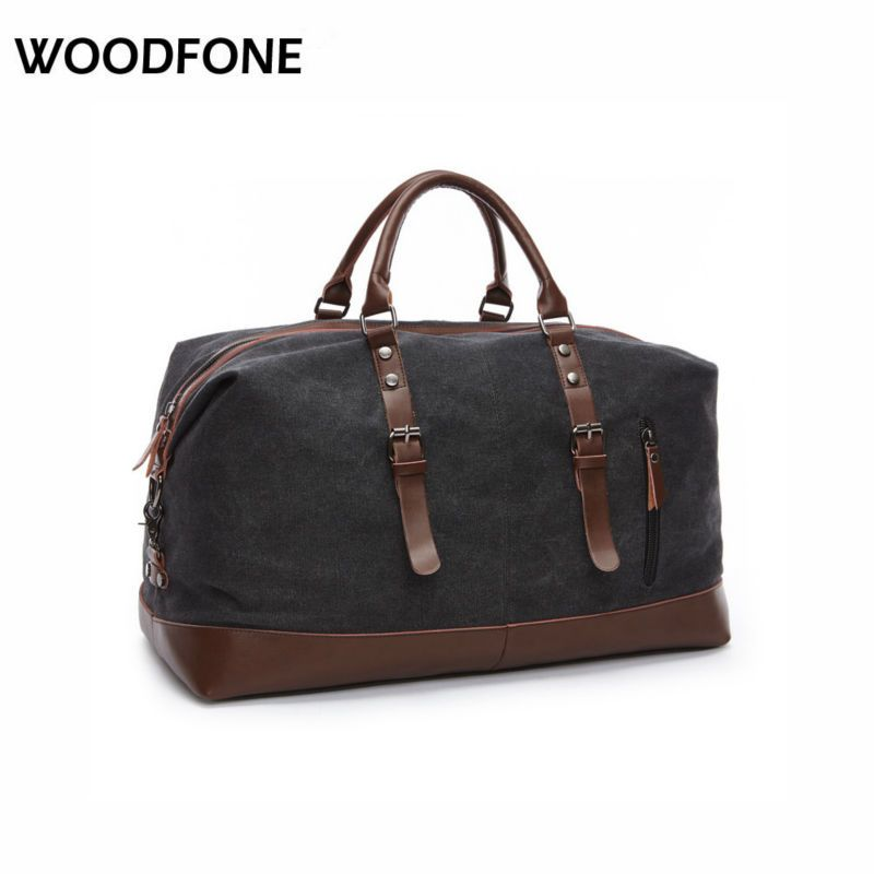 Z.L.D8655 Canvas Leather Men Duffel Travel Bag //Price: $42.09 ...