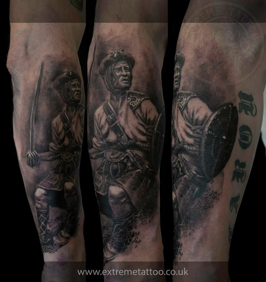 Scottish Warrior Done At Extreme Tattoo Piercing Inverness Highland Scotland By Catalin Gal At Our Scottish Tattoos Japanese Sleeve Tattoos Scottish Warrior