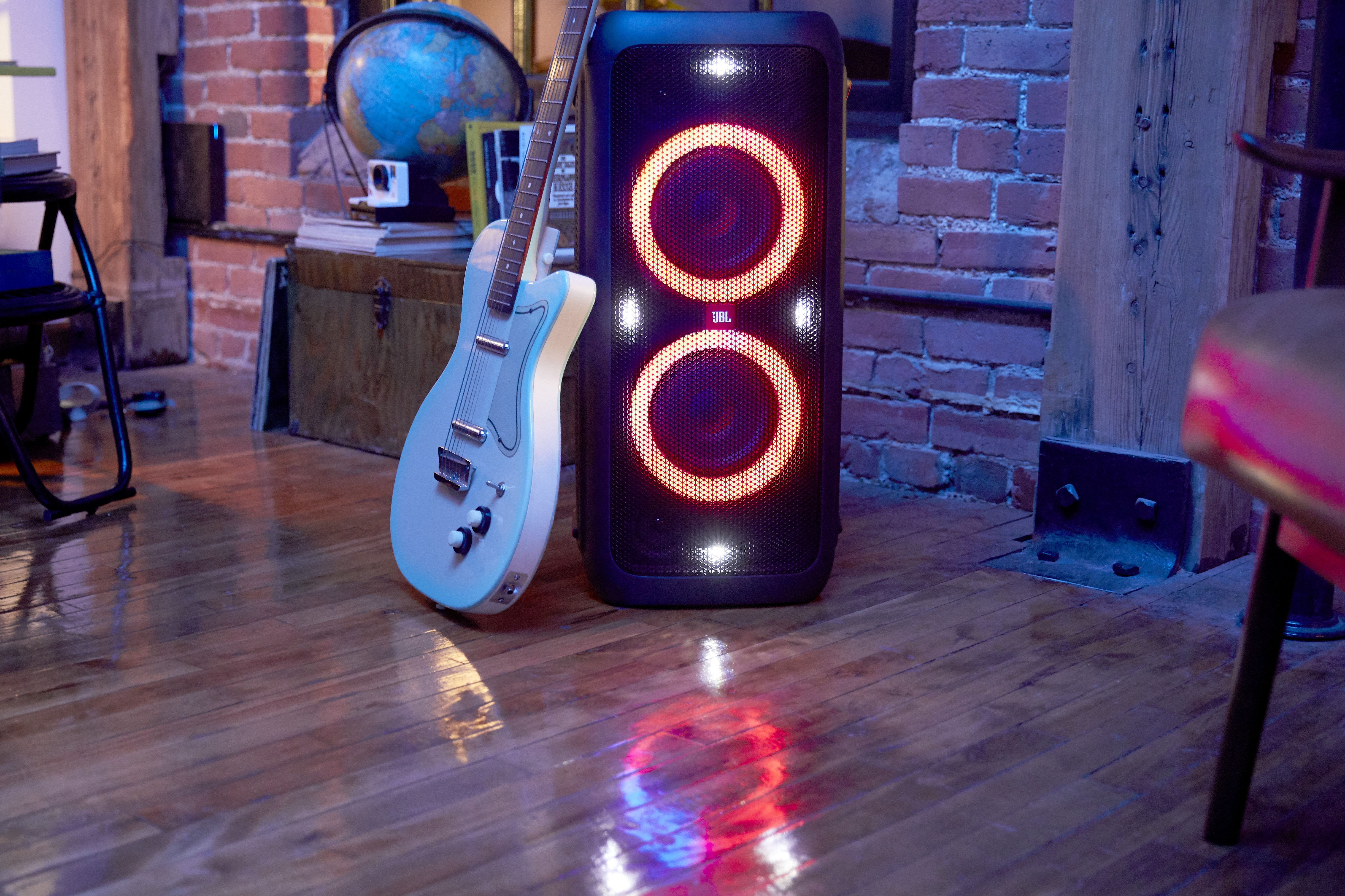 Battery Powered Portable Bluetooth Party Speaker With Light Effects Speaker Party Speakers Audio Design