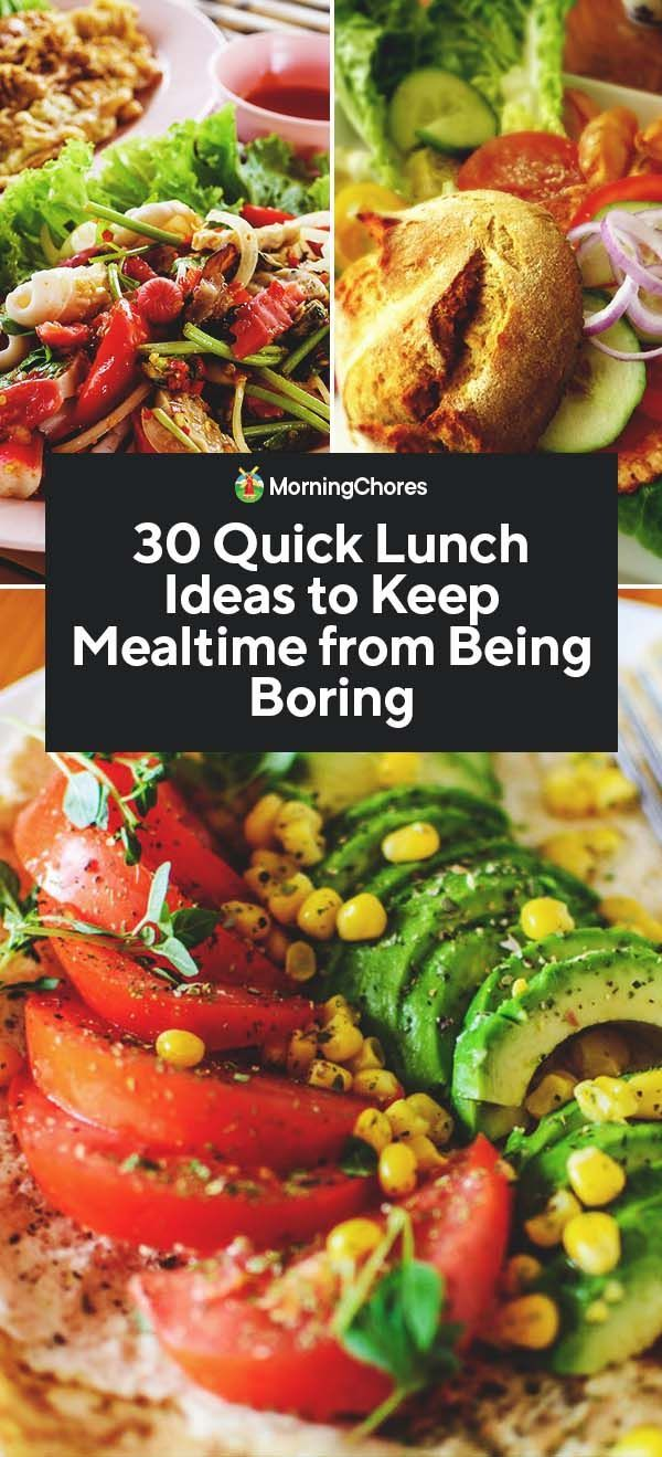 30 Quick Lunch Ideas to Keep Mealtime from Being Boring images