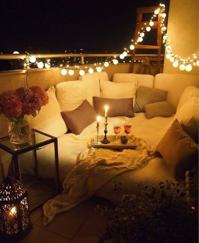 1001 Idees Eclairage Terrasse 60 Idees Et Conseils Pour Un Eclairage Ideal Deco Balcon Deco Terrasse Amenager Balcon