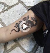 Blumen Schmetterlinge Tattoo Oberschenkel -  - #Blumen #Oberschenkel #Schmetterlinge #Tattoo #oberschenkeltattoos #tattooideen