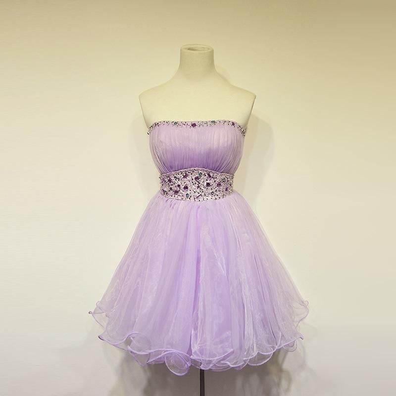 Plus Size Prom Dress, Homecoming Dress,Lilac Prom Dresses,Tulle Homecoming Gowns,Party Dress,Short Prom Gown,Lilac Cocktail Dress,Beading Homecoming Dresses 2018 For Teens MT20182722 - Lilac prom dresses, Strapless homecoming dresses, Homecoming dresses, Prom dresses, Prom dresses short, Homecoming dresses short - Plus Size Prom Dress, Homecoming Dress,Lilac Prom Dresses,Tulle Homecoming Gowns,Party Dress,Short Prom Gown,Lilac Cocktail Dress,Beading Homecoming Dresses 2018 For Teens MT20182722, Shop plussized prom dresses for curvy figures and plussize party dresses  Ball gowns for prom in plus sizes and short plussized prom dresses