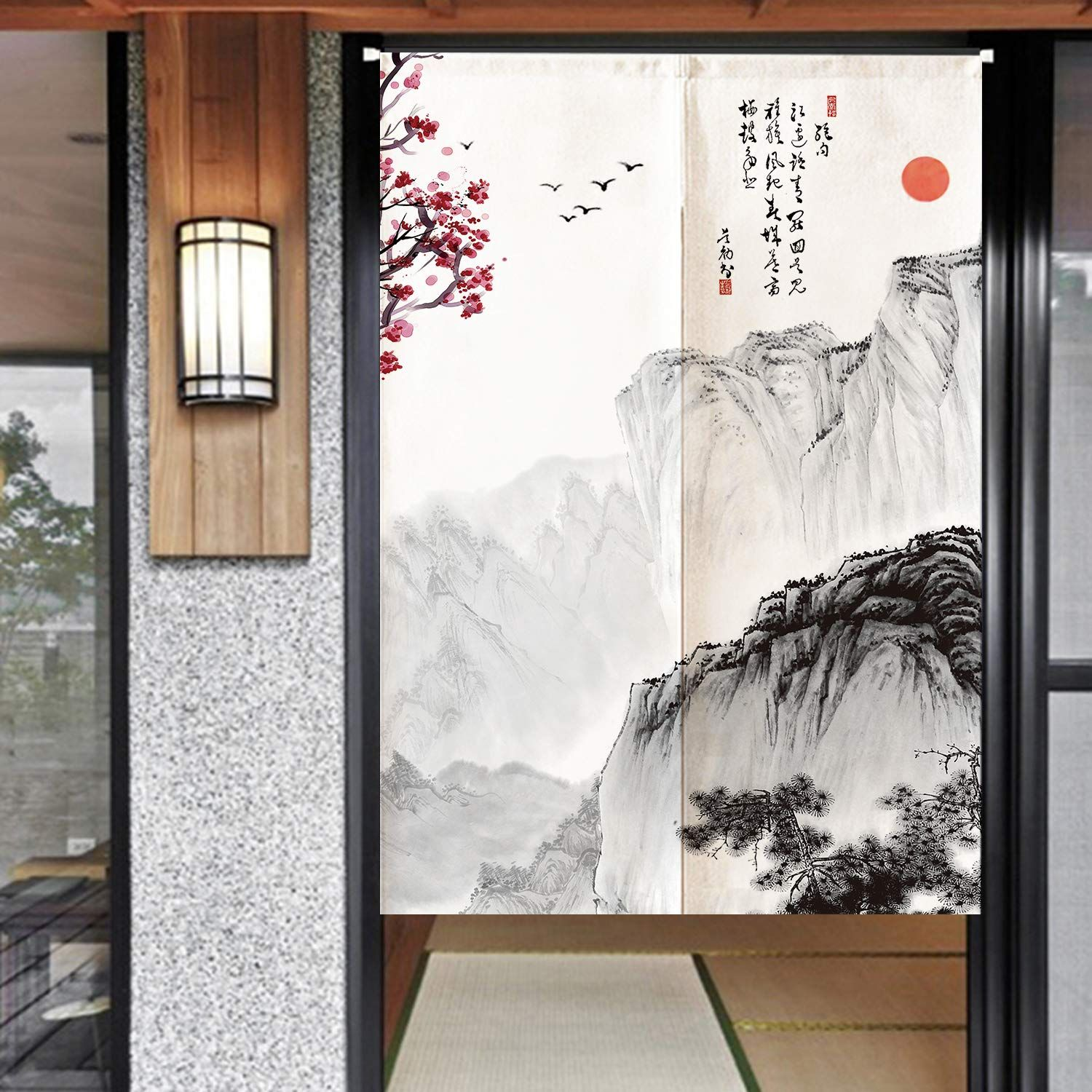 Ofat Home Chinese Traditional Painting Doorway Curtain Marvelous