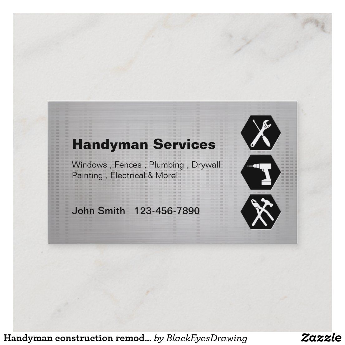 Handyman Construction Remodeling Business Cards Zazzle Com Remodeling Business Construction Business Cards Minimalist Business Cards