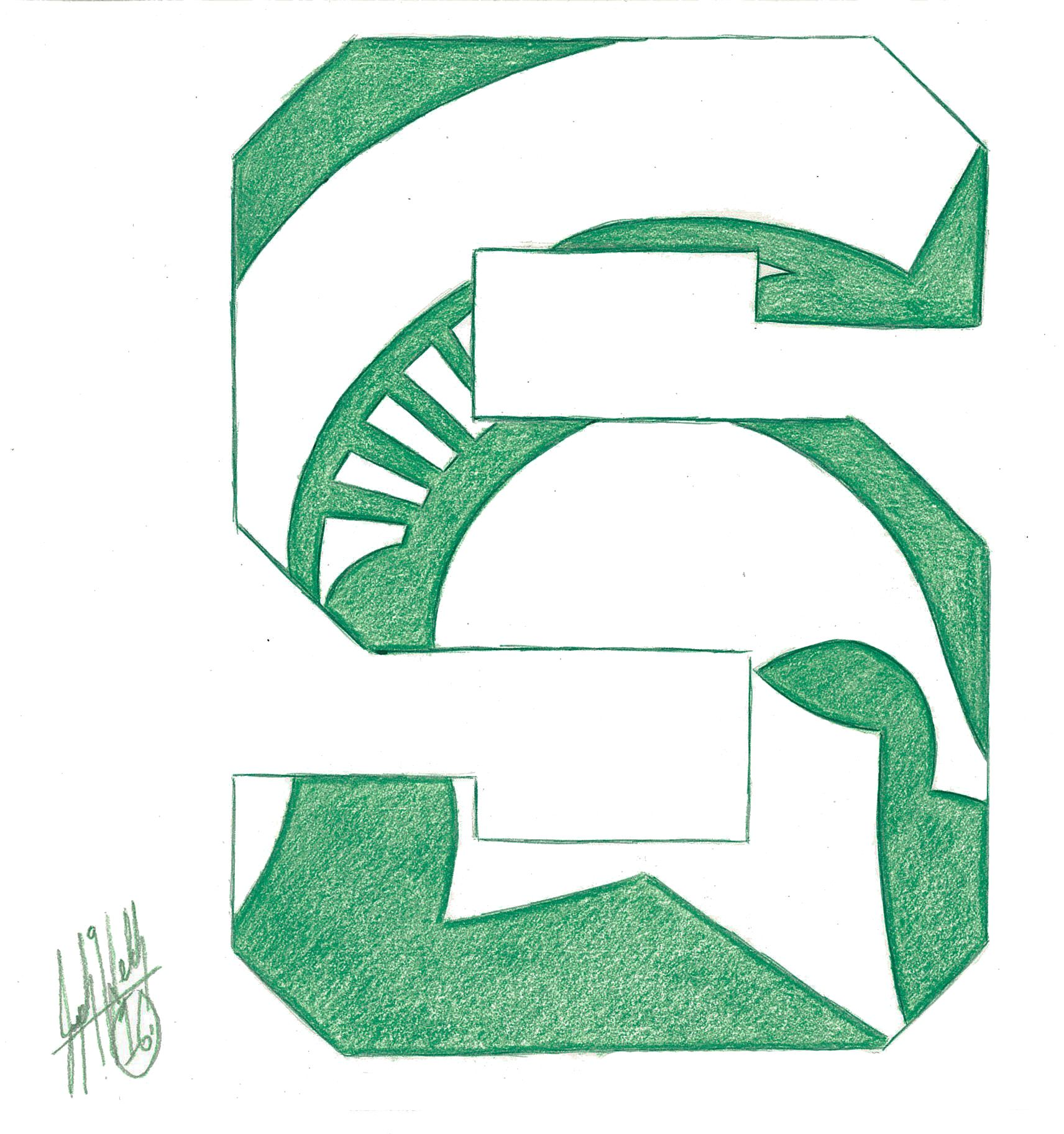 Michigan State Spartans Drawings Michigan State Spartans Art [ 1824 x 1712 Pixel ]