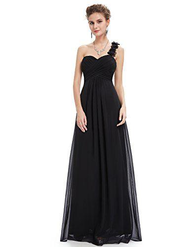 f7ee29c629 Ever Pretty Womens Elegant One Shoulder Sweetheart Wedding Guest Dress 14  US Black