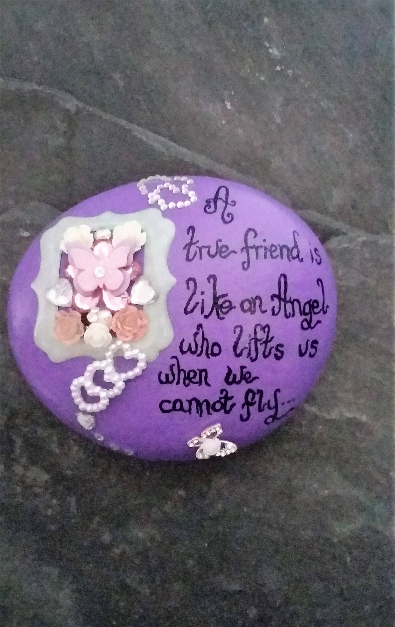 Decorative Friendship Stone Gift For Friends Special Friend Quote Personalized Keepsake Unique By Pebbles4thought On Etsy