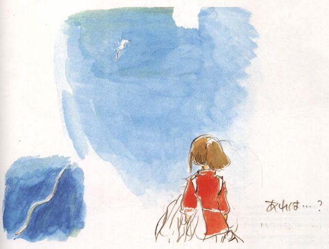 Spirited Away Visual Development watercolor - Studio Ghibli