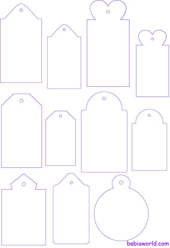 tags template Modelos de tags e divisórias para mini álbuns ...