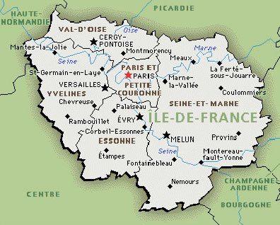 Ile De France Map Ile De France Ile De France Carte Haute