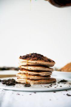 dairy/refined sugar/gluten-free pancakes.