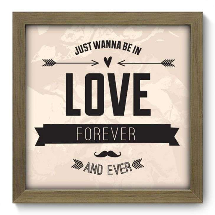 Quadro Decorativo Love Forever 007qdr Frases Pinterest