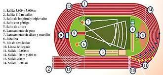 Resultado De Imagen Para Pista De Atletismo Dibujo Y Medidas Pistas De Atletismo Pista De Atletismo Atletismo Dibujo